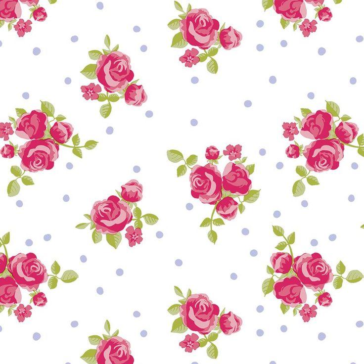 Tafelzeil Bukket Rood/Roze - Fleurig tafelzeil met stipjes en rozen. Gemakkelijk schoon te houden met een vochtige doek. Valt soepel om uw tafel. Kies de gewenste lengte in het menu en we snijden het voor je op maat.