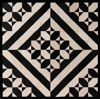 die besten 25 geometrische patchworkdecke ideen auf pinterest moderne quilts dreieckiges. Black Bedroom Furniture Sets. Home Design Ideas