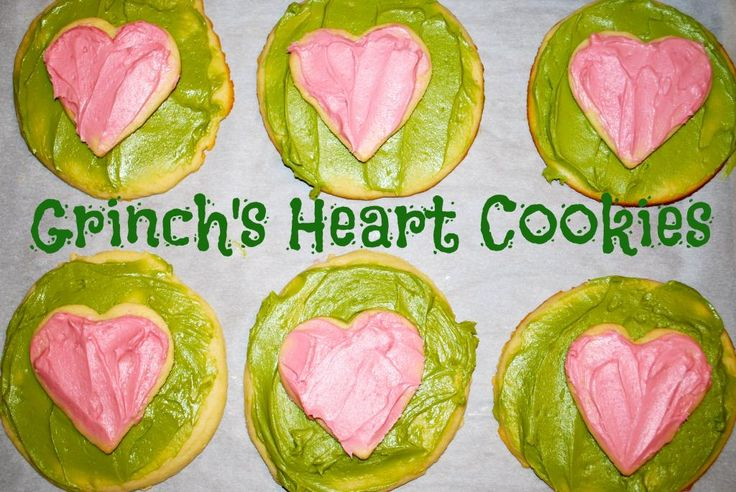 The Grinch's Heart Cookies.  Perfect for a cookie swap, holiday party or just your average Thursday.  Pin this site!  24 Winter Activities in 25 Days!