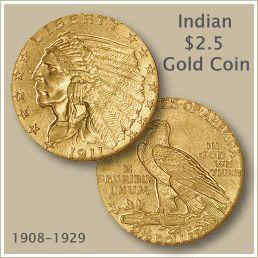 Indian $2.5 Dollar Gold Coin
