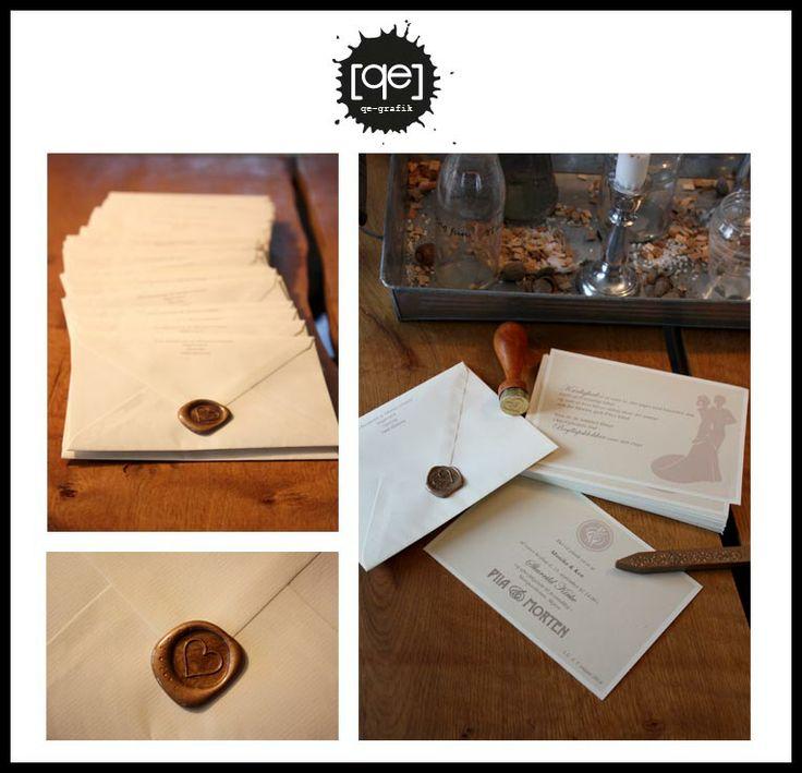 Classic wedding invitations. Made from a 1920's  theme.    Klassiske bryllups invitationer - lavet ud fra et ønske om at det skal holdes i et 1920'er look.
