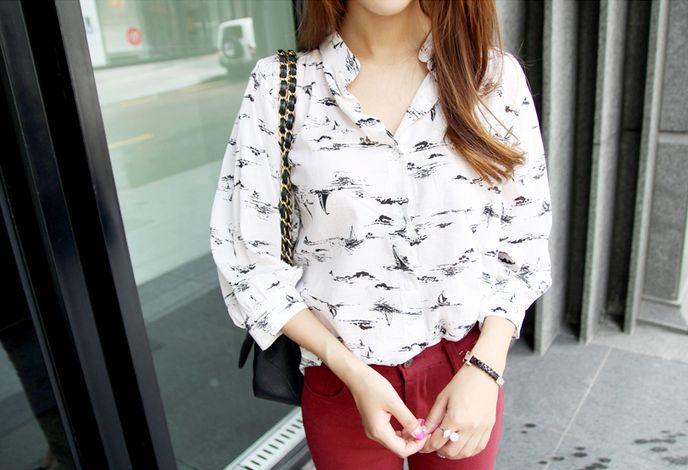 Korea Womens Luxury Shopping Mall [mimindidi] Bottling blouse / Size : FREE / Price : 35.16 USD #koreafashionshop #koreafashion #pinterfashion #pinterclothes #pintershop #koreashop #dailyfashion #OOTD #apparel #blouse