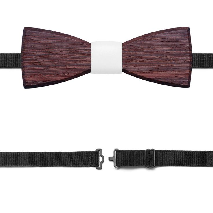 Nuptis wooden bow tie - men collection summer 2017. The best accessory for your wedding! This wooden bow tie combines our passion for natural materials with a simplistic yet sophisticated design. Choose the Nuptis for weddings and other special events. Dark wood with its natural structure is paired with the white fabric to create a perfect shape and strong, subtle appearance. The elastic band comfortably wraps around your neck and makes it easy to adjust to the right position. Choose the…