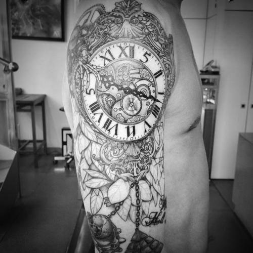 La signification du tatouage d'horloge                                                                                                                                                                                 Plus
