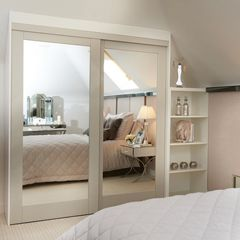 Aspen Sliding Wardrobe Door with Mirror Infill