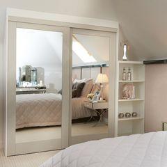 Aspen Sliding Wardrobe Door with Mirror Infill