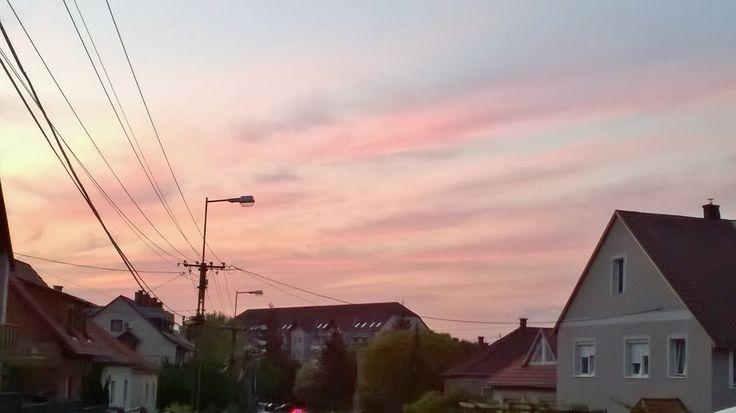 Even the sky is red in Veszprém