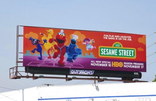 Sesame Street season 49 billboard Venice Boulevard | Cool