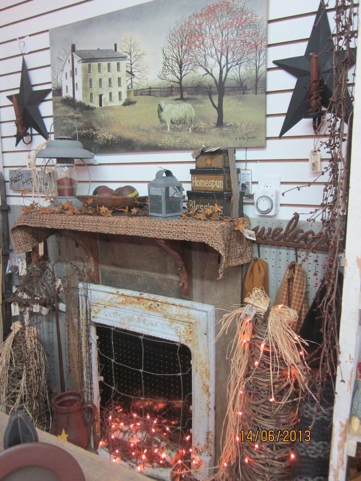 Our Primitive Fireplace