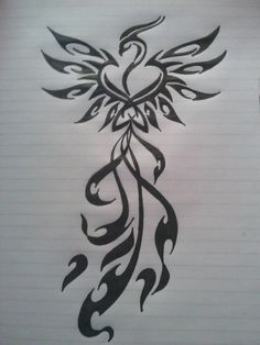 Phoenix Tattoo Design on Pinterest | Phoenix Tattoos, Aztec Tattoo ...