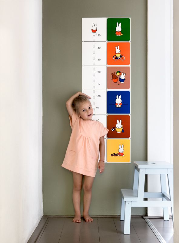 IXXI wall decoration made with illustrations of miffy. This IXXI is especially made as a growth chart for your kids, up to 1,50 meters. This IXXI will cost $66.00, in the Special collection. #ixxi #ixxidesign