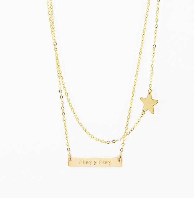 The Fault in Our Stars necklace ($37).