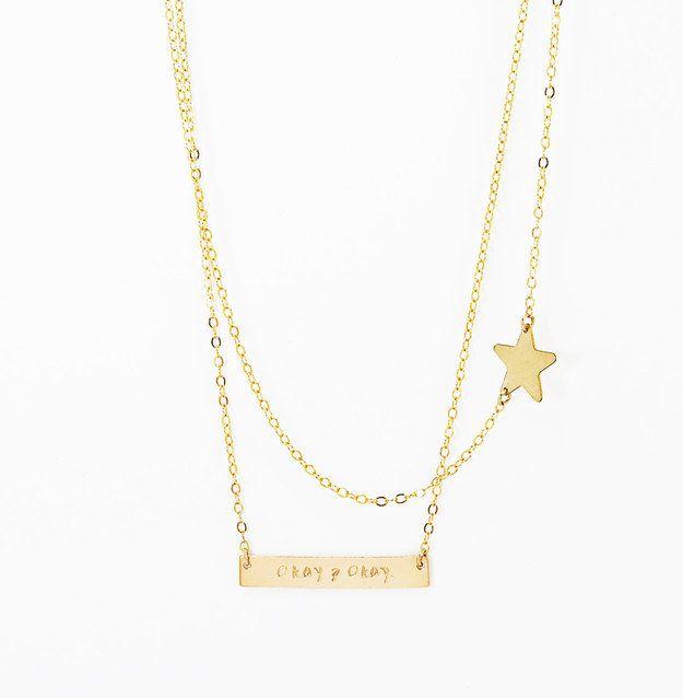 El collar Bajo la Misma Estrella (37$) | 35 Bellísimas joyas inspiradas en libros