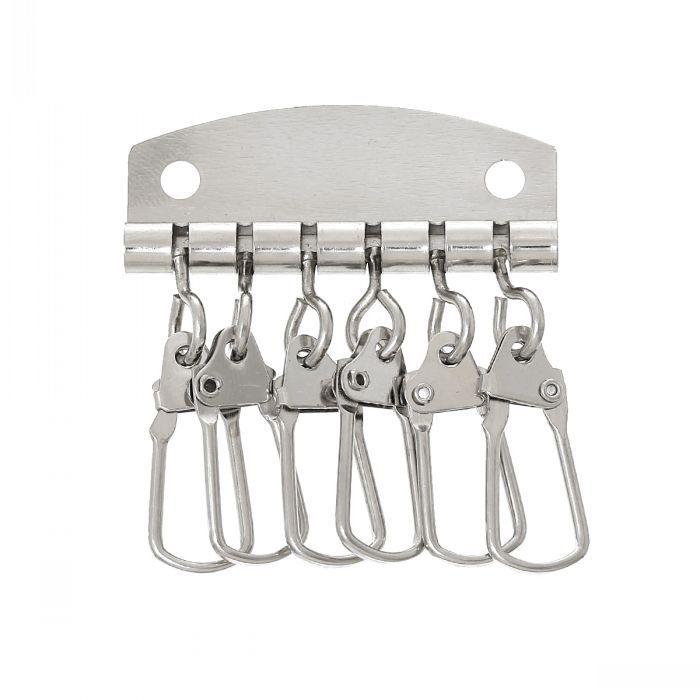 DoreenBeads Ключевые Организатор Key Holder Кольца для ключей Серебряный Тон 5.1 см x 4.4 см (2 x 6/8), 10 Шт.