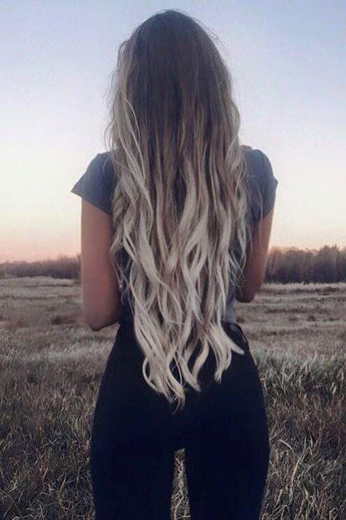 ash blonde ombre hair color                                                                                                                                                     More