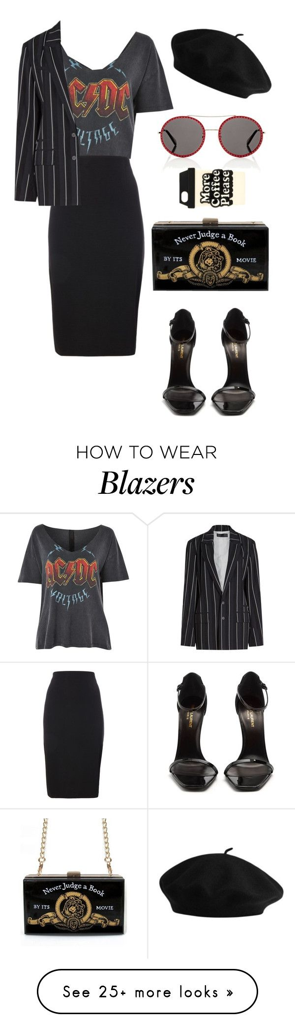 """Senza titolo #1337"" by francyrizzo on Polyvore featuring And Finally, Yves Saint Laurent, Haider Ackermann, Gucci and ban.do"