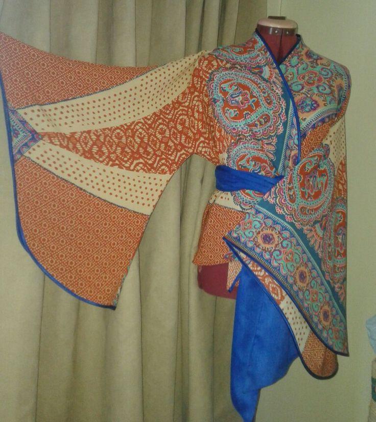 @ecofriendzy Oriental influence boho kimono top