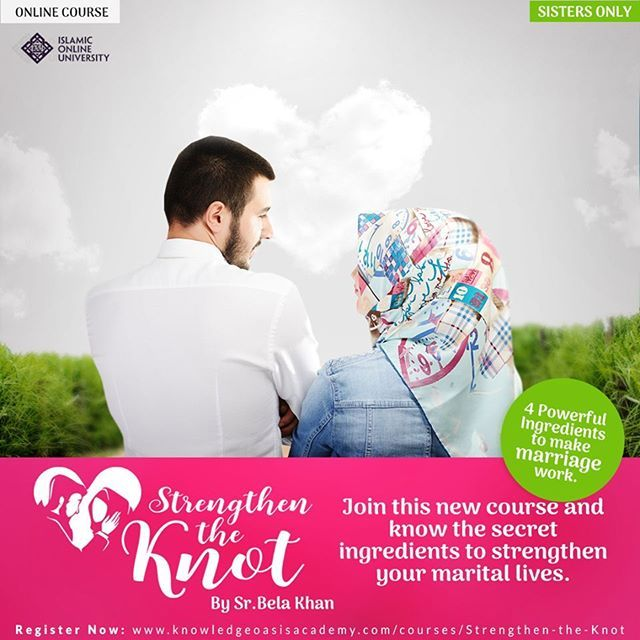 A Happy Marriage: Is it fact or fiction? Is it possible to lead a happily married life? 'Strengthen the Knot' By SR.Bela khan http://www.knowledgeoasisacademy.com/courses/strengthen-the-knot