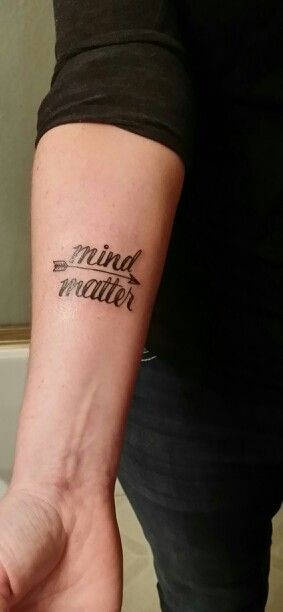 My newest MS tattoo I designed...Mind Over Matter with an arrow to keep aiming forward
