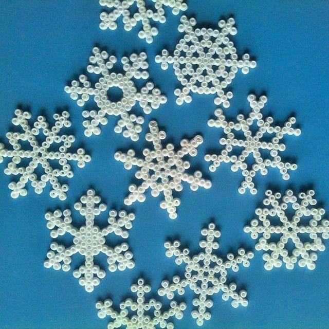 Snowflakes hama perler beads by ml_02