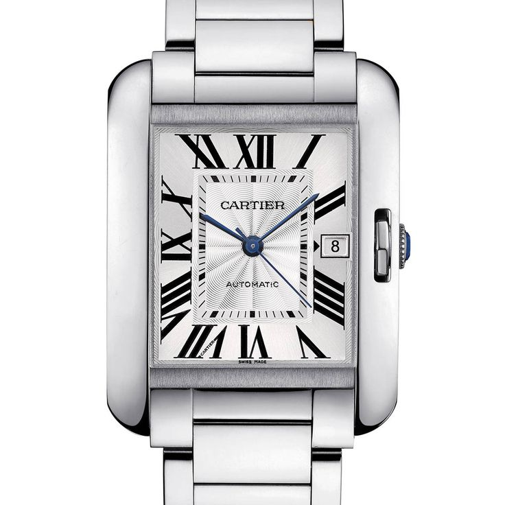Cartier Tank Anglaise Price: EUR 6700 Large model, steel 39.2 x 29.8 mm, 9.5 mm thick. REF: W5310009 The Tank story takes an unexpected turn with the Tank Anglaise. This variation of the distinctive features of the Tank recreates the perfect alignment of the original thanks to a winding mechanism seamlessly incorporated into the case. Featuring a concentrated form and reinforced lines, the streamlined design reinterprets the original model and gives it a new dimension.
