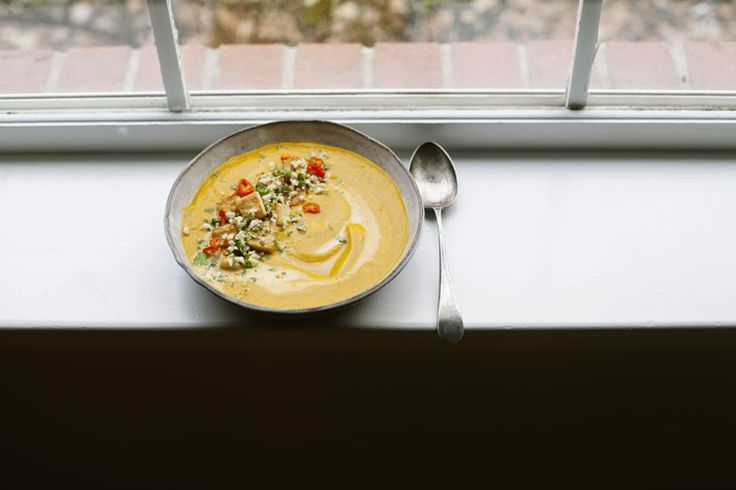 Amy Chaplin's Spicy Carrot Soup with Lime Leaves and Coconut