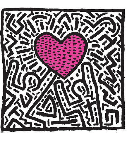 Keith Haring Print <3..How I would love to have this up on my living room wall! :)