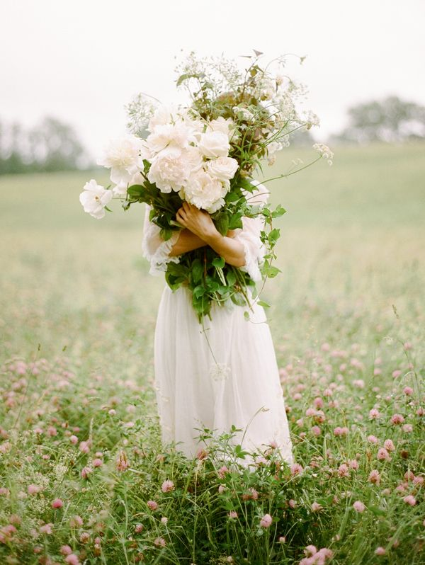 Delicate Wildflower Wedding Ideas on oncewed.com | shopgossamer.com dresses