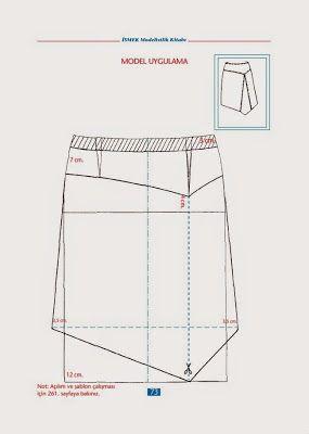 Skirt  İSMEK modelistlik book - modelist kitapları