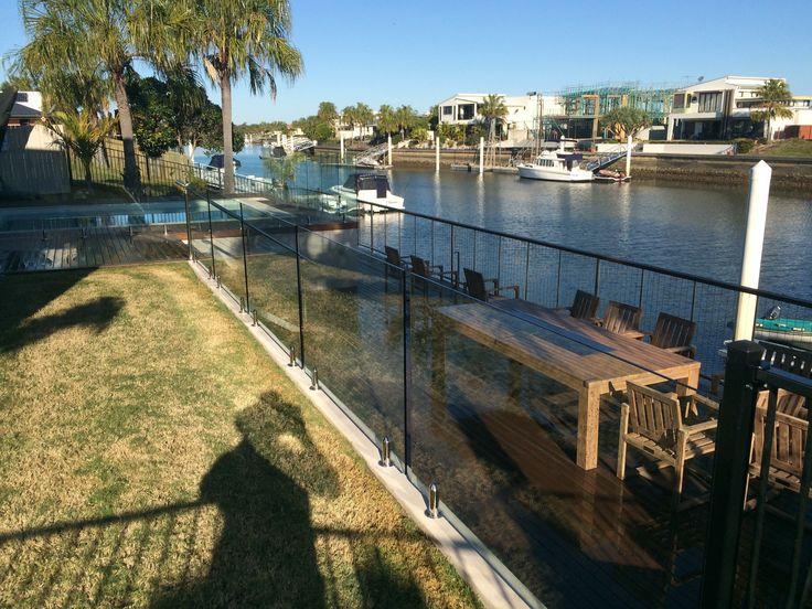 Frameless glass fencing installed by Northside Fencing