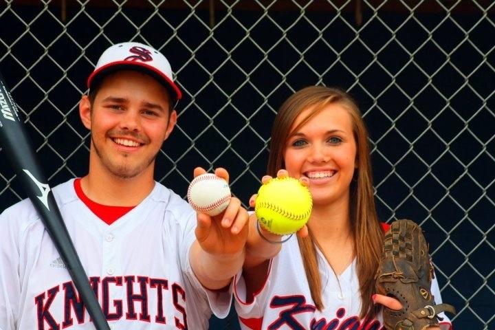 Athletic couple! Senior pictures