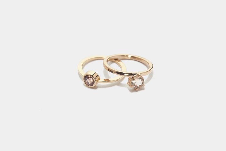 These exclusive rings made of rose gold are perfect for any wardrobe. Check them out at #piroskanna #rings #rosegold