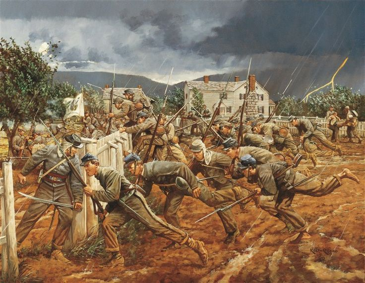 Lions of the Hour, by Keith Rocco. The VMI Cadets at the Battle of New Market, May 15, 1864.          [IMG]