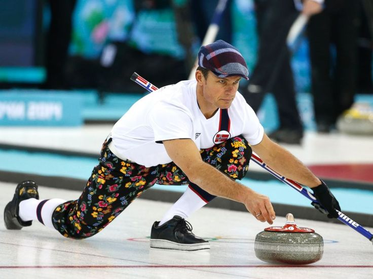 Norwegian Curling Team 2014 | ... curling training at the 2014 Winter Olympics, Feb. 8, 2014, in Sochi
