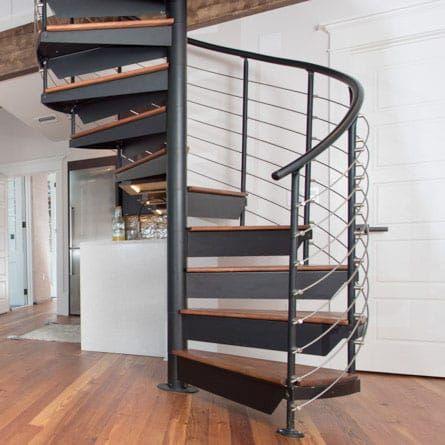 Best The Bradley Custom Railing Spiral Stairs In 2020 Diy 400 x 300