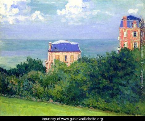 Villas At Villers Sur Mer  Gustave Caillebotte