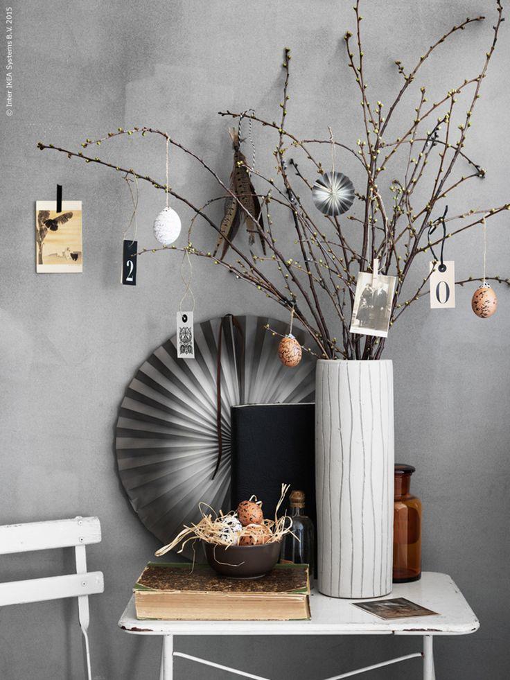 A modern decoration for Easter #Påskris&Easter
