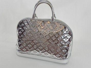 a1ca4ec93a27 Alma Limited Miroir Mm .circa 2008 Silver Leather Clutch. Louis Vuitton ...