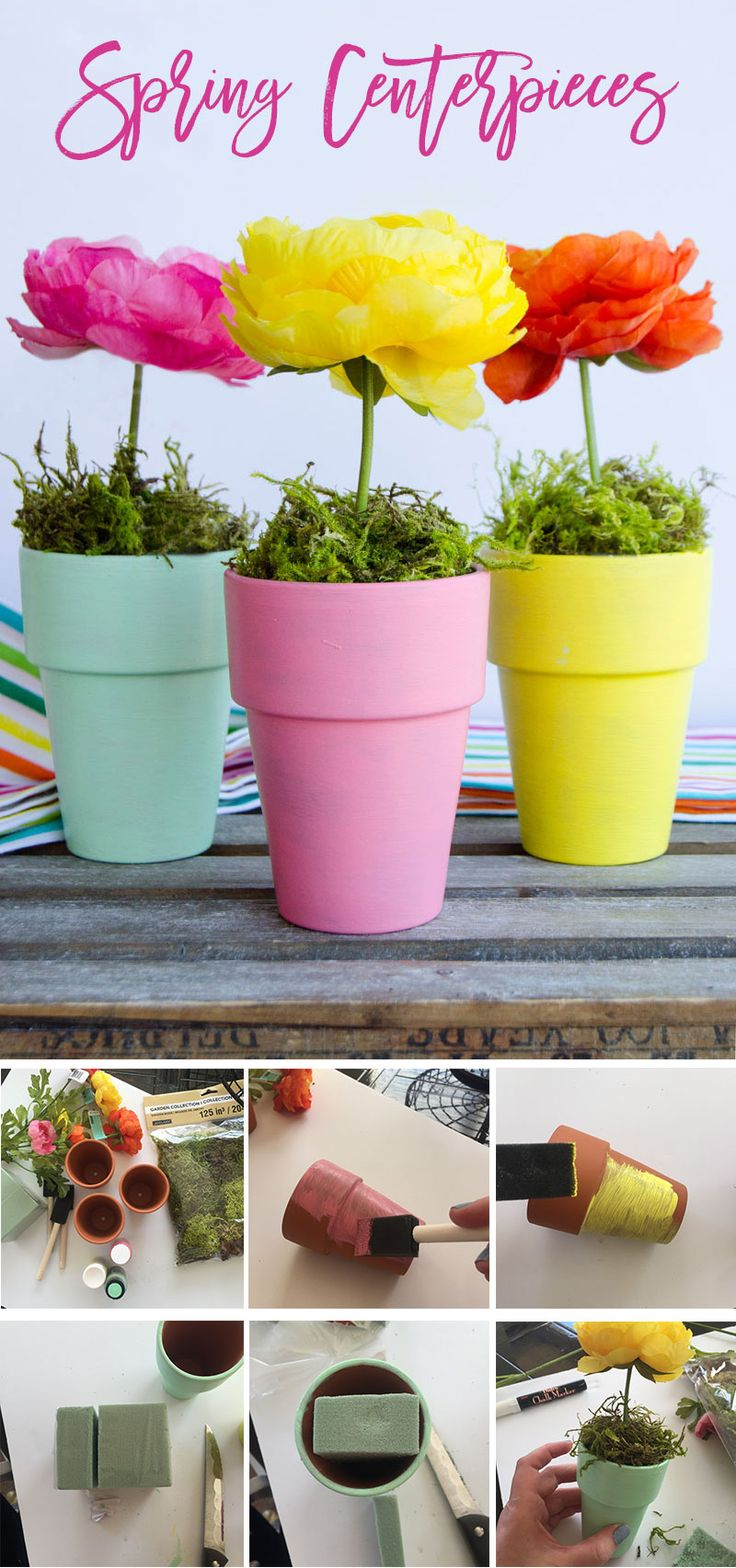 DIY Flower Pot Craft & Centerpiece by MichaelsMakers Lindi Haws of Love The day