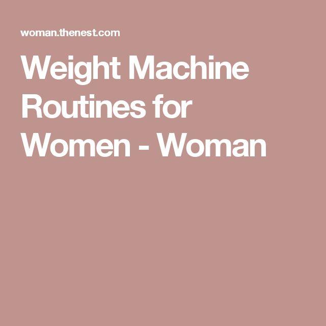 machine workout routines