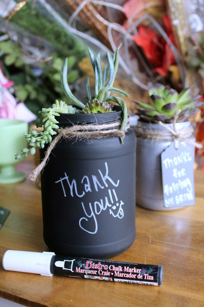 Thank You Planter Mason Jar 3