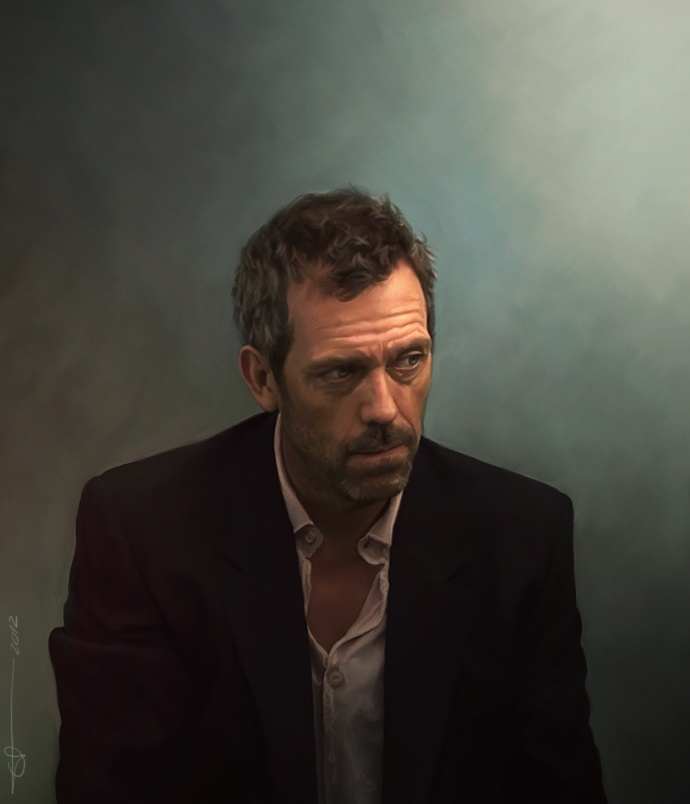 Hugh Laurie - This painting is superb