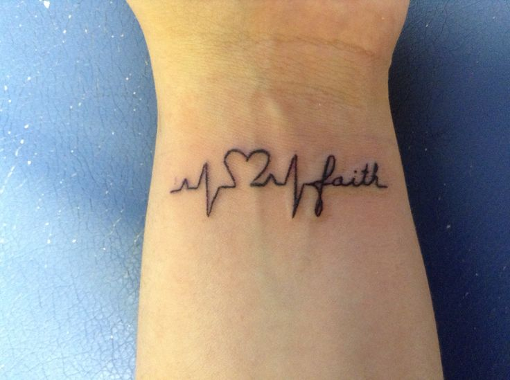 After all inspirations from Pinterest, here is my very own EKG tattoo.