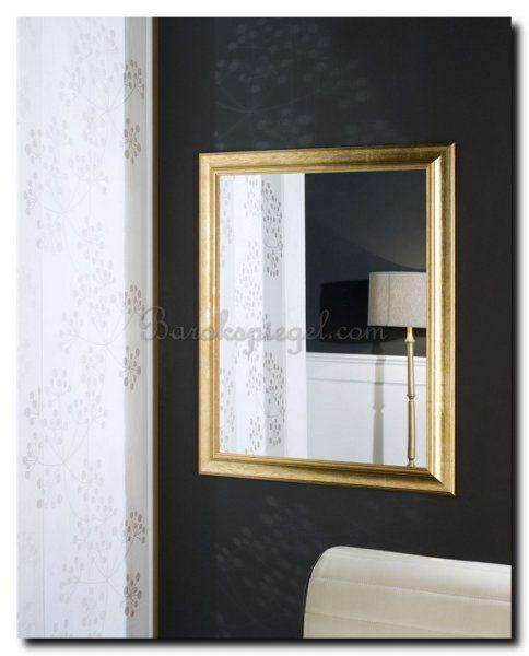 Mooi contrast deze spiegel met een modern klassieke gouden lijst op een donkere muur.  https://www.barokspiegel.com/venetiaanse-spiegels/moderne-spiegel-sonia