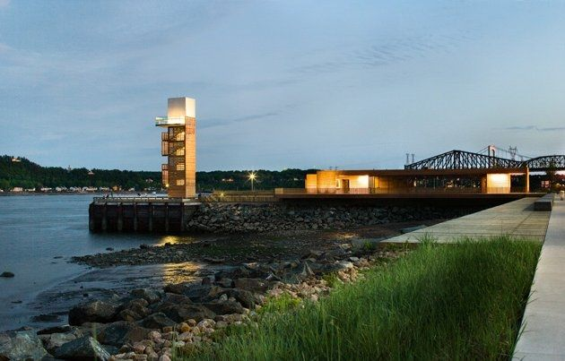 The promenade Samuel De Champlain in Quebec, by Daoust Lestage ‪#‎WoodLovers‬ ‪#‎architecture‬ ‪#‎design‬ ‪#‎riverpromenade‬ ‪#‎projects‬