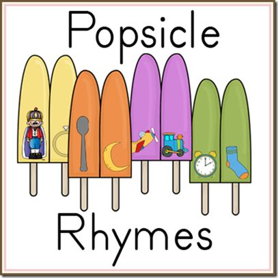 Free Popsicle Rhymes Printable... perfect for a file folder game!