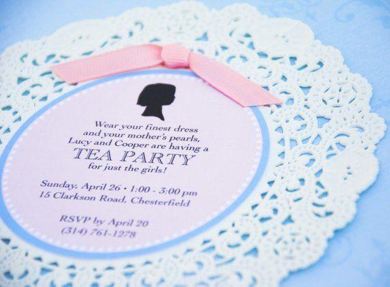Tea Party: invitation