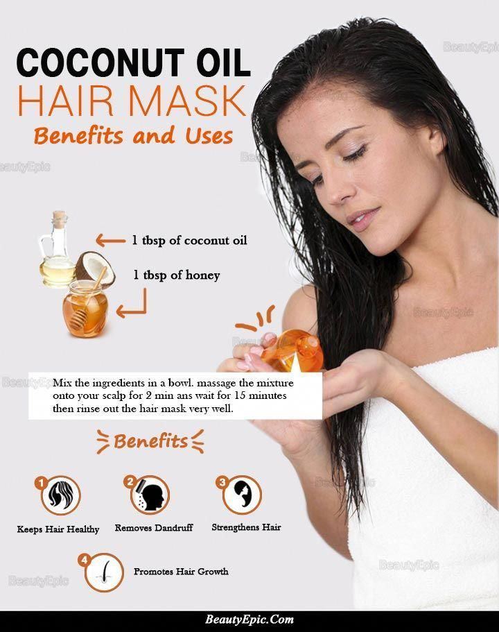 How To Do Coconut Oil Hair Mask Benefits Uses Hair Masks Coconut Oil Hair Coconut Oil Hair Treatment Coconut Oil Skin Care