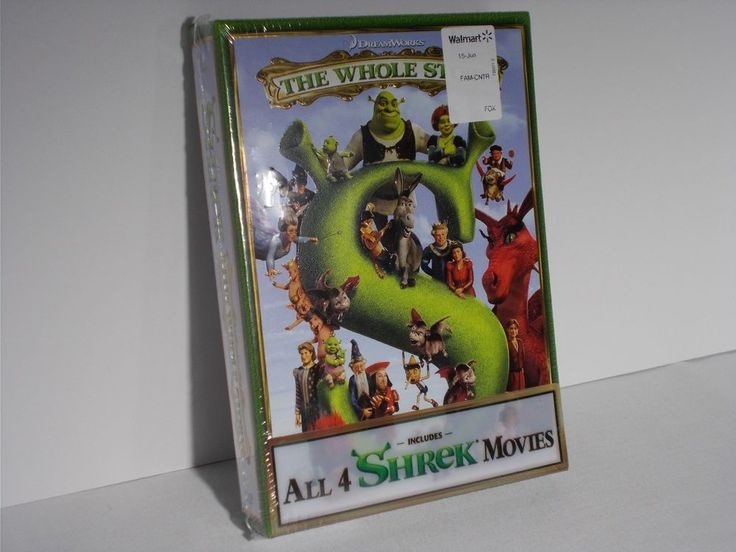 SHREK The Whole Story ALL 4 SHREK MOVIES - DVD Set NEW & SEALED