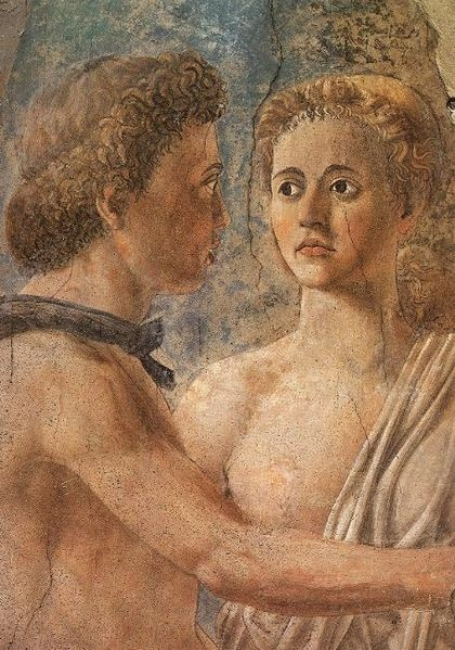 Piero della Francesca, Death of Adam,  Fresco, c.1452, detail